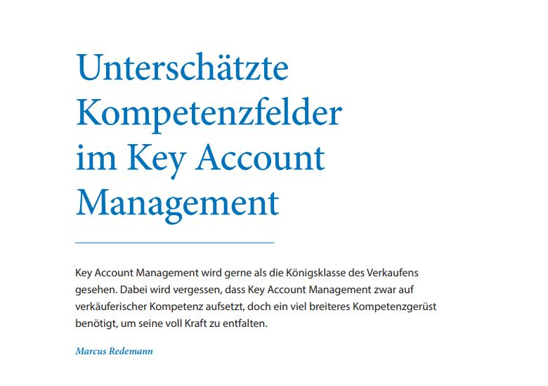 Kompetenzen im Key Account Management