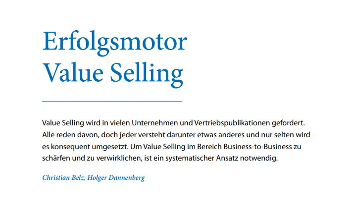 Cover Erfolgsmotor Value Selling