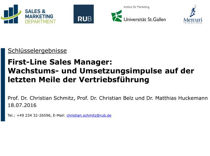 Studie First-Line Manager 2016