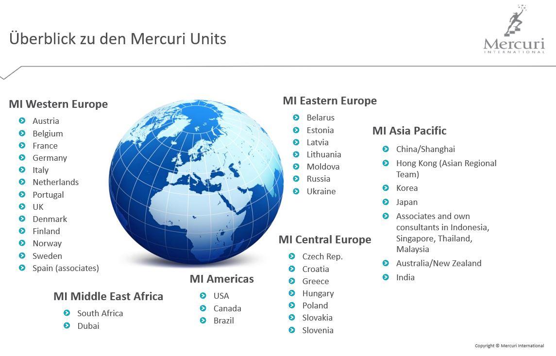 Globale Abdeckung Mercuri International