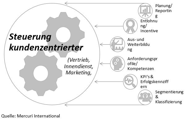 Grafik Markt-Kunden-Segmentierung zur Steuerung des Vertriebs