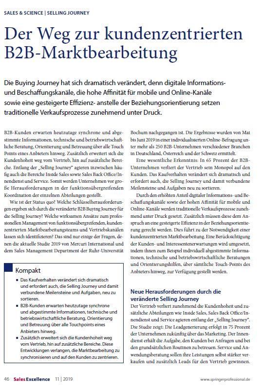 Mercuri Artikel - Der Weg zur kundenzentrierten B2B-Marktbearbeitung