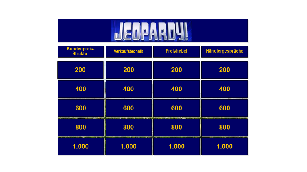 Bild Gamification Format Jeopardy