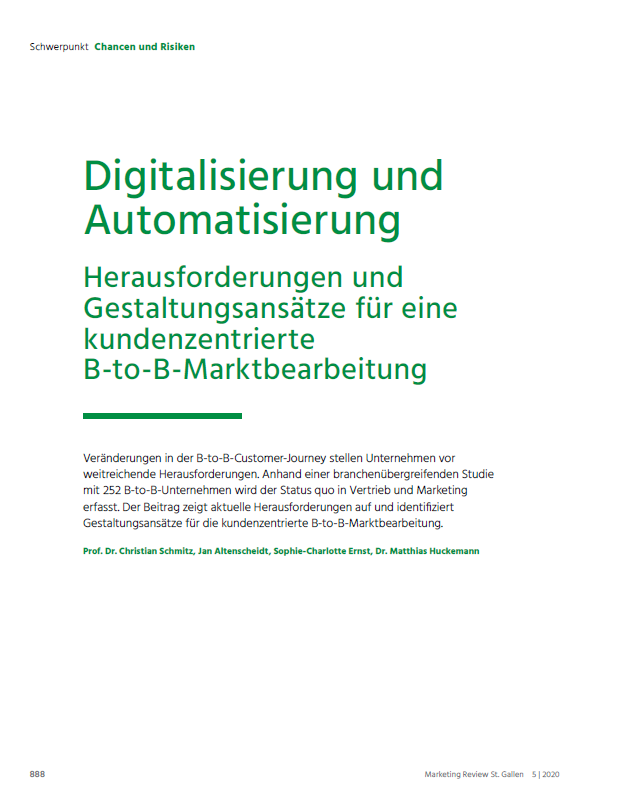 Marketing Review St. Gallen 052020 Cover