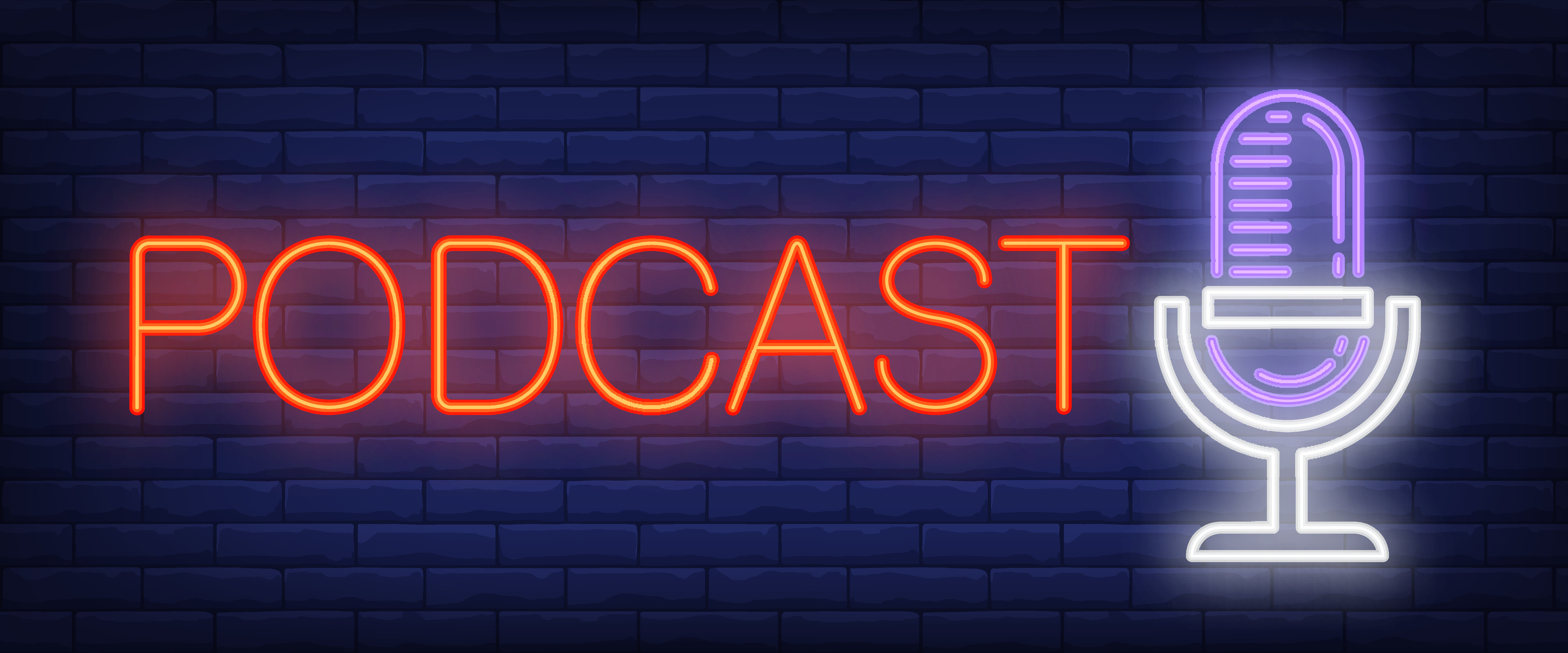 podcast-neon-sign-microphone-on-brick-wall-background-vector-illustration-in-neon-style-for-radio-station-and-broadcasting